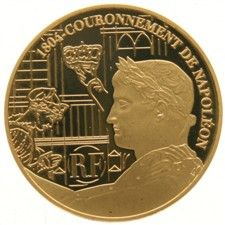 France – 10 Euro coin 2004, Napoleon and coronation scene, gold