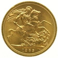 England, sovereign 1965 – Elizabeth, gold