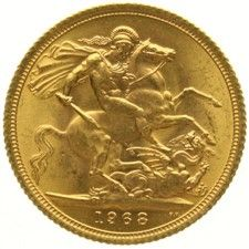 England – sovereign 1968 – Elizabeth II – gold