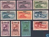 Gabon stamps with overprint