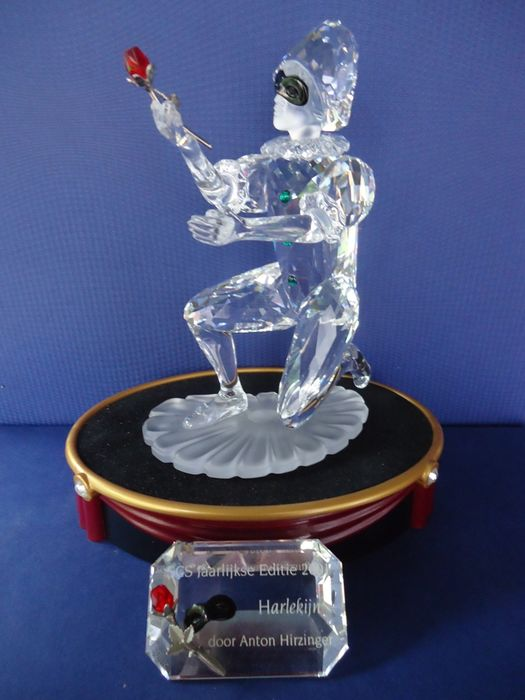 Swarovski - Annual ornament Harlequin - display stand - plaque