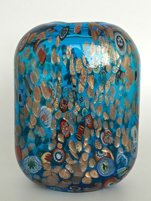Studio marco polo turquoise glass with millefiori and for Marco polo decoracion