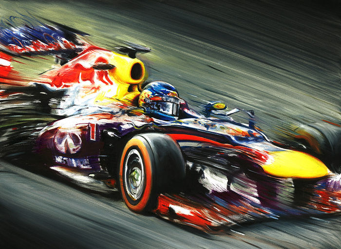 Sebastian Vettel Red Bull RB9 Formula 1 Car 2013 World Champion F1 - Art  Print Poster 3e8ffd86a1