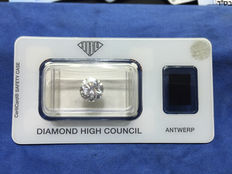 2.23 ct brilliant cut diamond, D VVS1