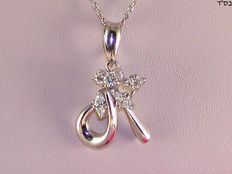 Women's necklace and diamond pendant – 0.50 ct in total