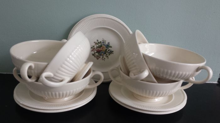 6 Wedgwood Edme soup bowls + 6 Wedgwood Edme Conway plates : soup bowls and plates - pezcame.com