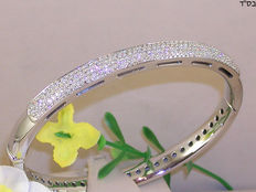 Bangle set with diamonds – 3.50 ct in total F/VS1
