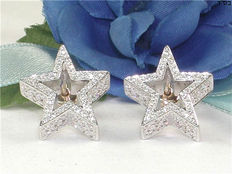 Star earrings with diamonds – 2.20 ct in total