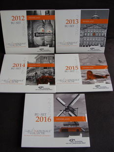 The Netherlands - Year collections 2012/2016 'National Collection' (5 different ones) in a collection box