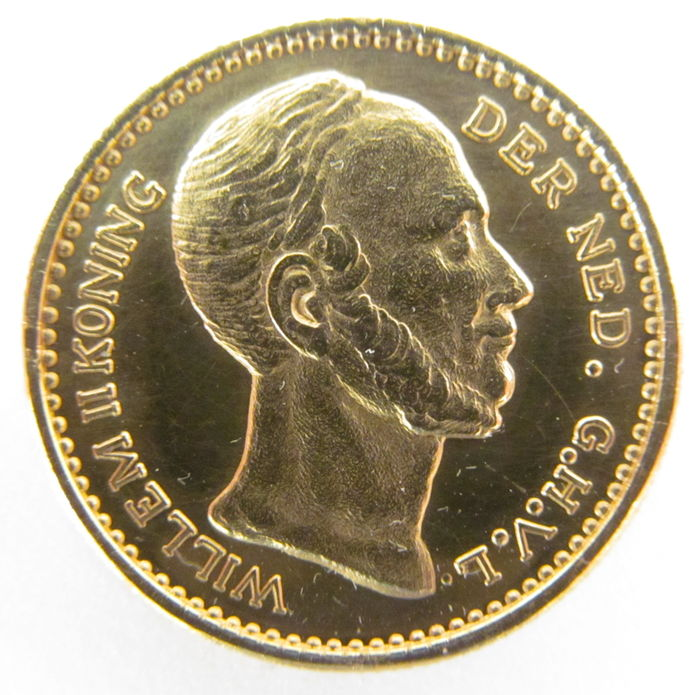 Netherlands - 10 guilder 1848 Willem II - Replica - gold