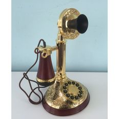 Franklin Mint -Alexander Graham Bell Phone - gold plated 24k