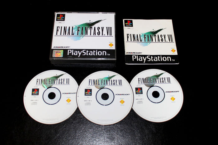 Sony Playstation Ps1 Game Final Fantasy Vii Complete In