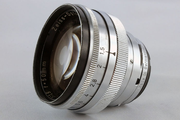Vintage and rare Zeiss-Opton Sonnar 50mm 1:1 5 lens for Contax and Nikon  Rangefinder Serial No 1162870 with NO caps  Very Good  - Catawiki