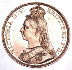 United Kingdom - Crown 1887 Victoria - silver
