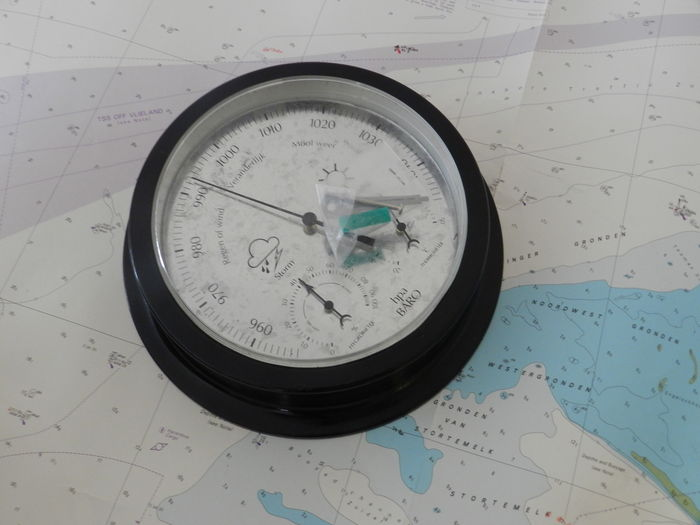 Two large Barometer,s weather stations with hygrometer and ...