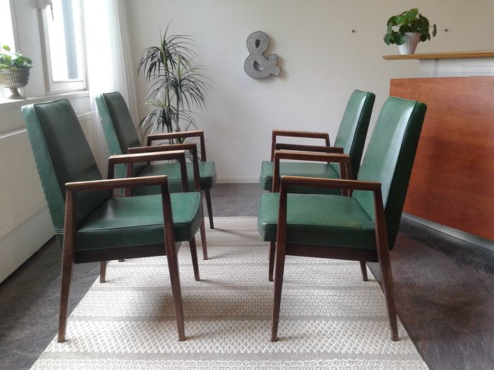 thonet 4 dining room chairs with armrest catawiki