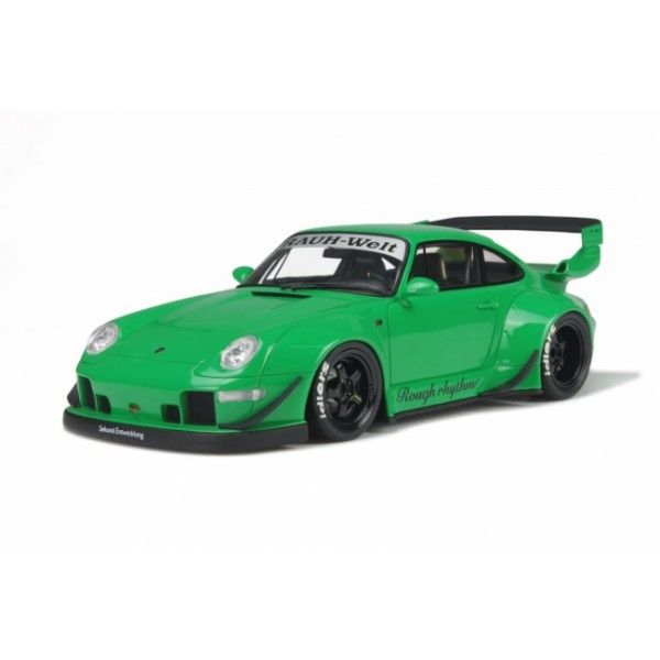 GT-Spirit - Scale 1/18 - Porsche 911 (993) RWB 1995 Rauh Welt Tuning - Limited 3000 pieces - Colour: Green
