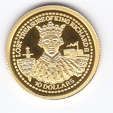 "Fiji – 10 dollars 2003 ""Lost treasure of King Richard II"" – Gold"