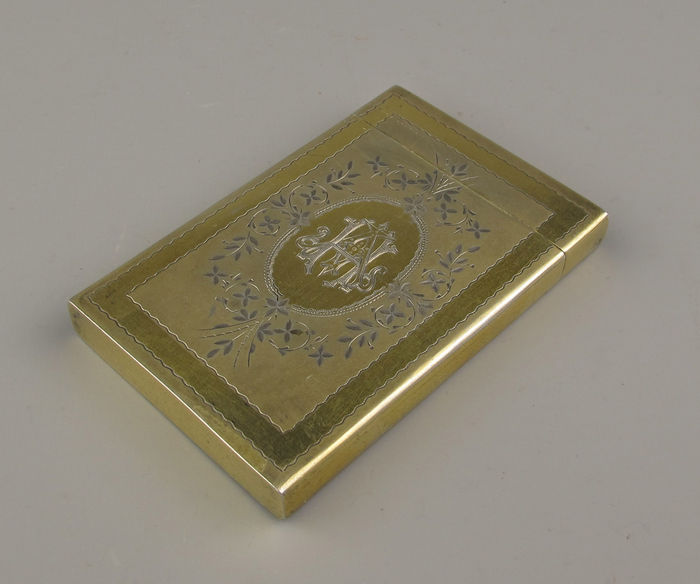 Gilded silver business card holder approx 1900 catawiki gilded silver business card holder approx 1900 colourmoves