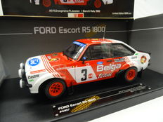 Sun Star - Scale 1/18 - Ford Escort RS1800 #3 Team Belga Rally 1982 - Drivers: Droogmans / Joosten Bianchi - Limited 1599 pieces