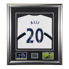 Personally Signed Dele Alli Spurs Framed Shirt - Tottenham Hotspur - Deluxe Display