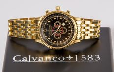Calvaneo 1583 Aerostar II Diamond Gold / Black – Men's Chronograph, New