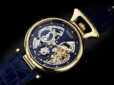 CALVANEO 1583 Compendium II Gold/Blue - High Luxury Squelette - Men's wristwatch - Never worn