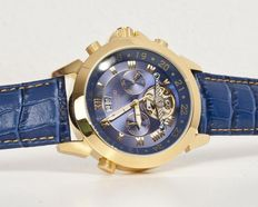 CALVENEO 1583 Astonia Luxury Gold Blue. Men's wristwatch – New
