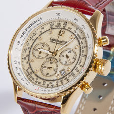 CALVANEO 1583 Defcon Diamond Gold/Champagne Men's chronograph wristwatch 2017 Collection