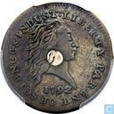 Verenigde Staten 1 cent 1792 (silver plug in center)
