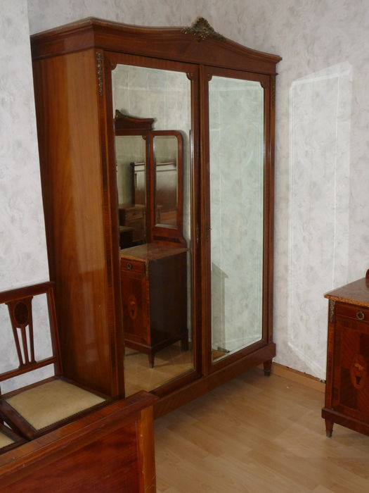 An Extensive Mahogany And Marquetry Bedroom Suite In Louis XVI Style,  Belgium, Approx.