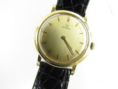 OMEGA 18 KT (0.750) GOLD DE VILLE CHRONOMETER HAND WOUND MEN'S WATCH