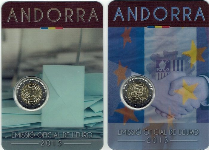 Andorra – 2 Euro 2015 'Customs' and 2015 'Politican rights'
