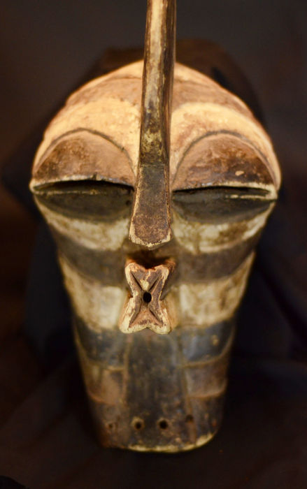 African SONGYE Kifwebe mask. D.R.C. Democratic Republic Congo.