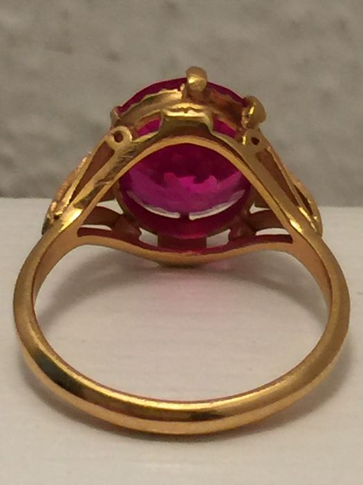 Handmade 23 karat gold ring Catawiki