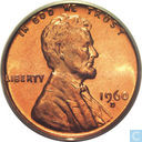 USA  1 cent 1960D/D Small date over Large date