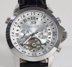 Calvaneo 1583 - Astonia Platin Black Russian Diamond - Men's wristwatch.