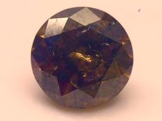 0.08 ct dark red/brown loose diamond