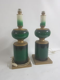 Pair of metal lamps from the 70s