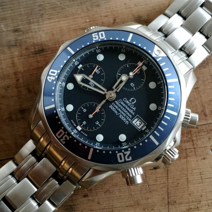f34b5370a9e4 Omega Seamaster 300 m Professional Automatic Men s Chronograph Watch – 2001