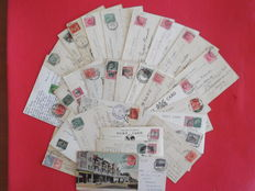 Lot of 110 postcards from South Africa; format: 9x14; 31 have been posted with stamps.