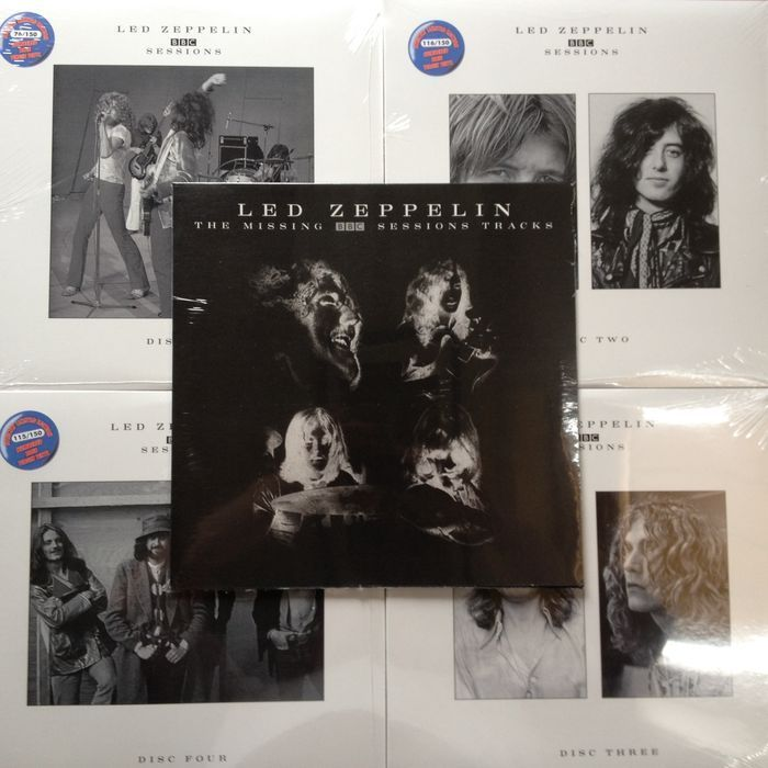 led zeppelin 5 lp set bbc sessions volume 1 2 3 4 including extra lp the missing bbc. Black Bedroom Furniture Sets. Home Design Ideas