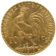 "France – 20 francs 1910, ""Liberty Head, Marianne"" – gold"