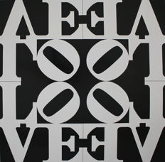 Robert Indiana - Collection of 2 Items: Love Rising - Winter LOVE