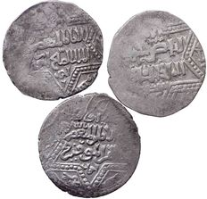 Ancient East - Lot of 3X Islamic Coins, Ayyubids, 1210-1220, AR dirham, 2,54gr   -  2.63gr  -  2, 56gr