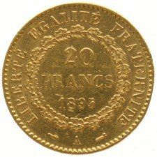 France – 20 francs 1895A 'Standing Genius' – gold