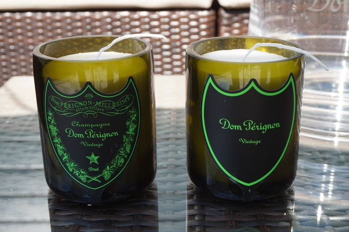 Dom Perignon Luminous LED Candles soy wax - 2 items