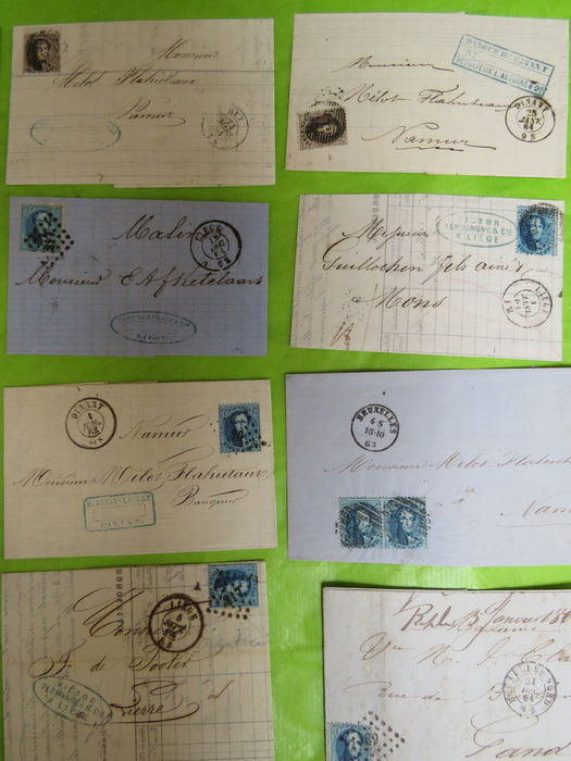 how to address a letter to a congressman belgium 1863 15 letters quot perforated medals quot with obp 14 22232