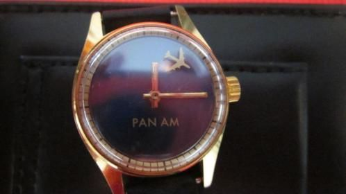 Pan Am vintage ladies watch from the 60s-70s, movement with seventeen jewels