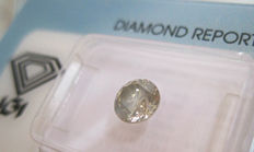 0.80 ct Round Diamond Brilliant Natural Fancy Brownish Yellow  I1